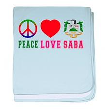 Peace Love Saba baby blanket