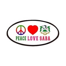 Peace Love Saba Patches