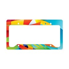 Abstract Fish License Plate Holder