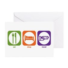 Eat Sleep Travel Greeting Cards (Pk of 10)