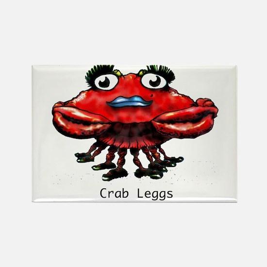 Crab Leggs Rectangle Magnet