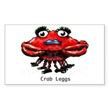 Crab Leggs Rectangle Decal
