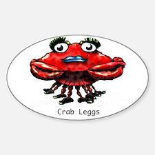 Crab Leggs Oval Decal