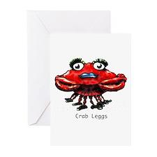 Crab Leggs Greeting Cards (Pk of 10)