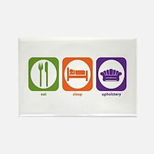 Eat Sleep Upholstery Rectangle Magnet