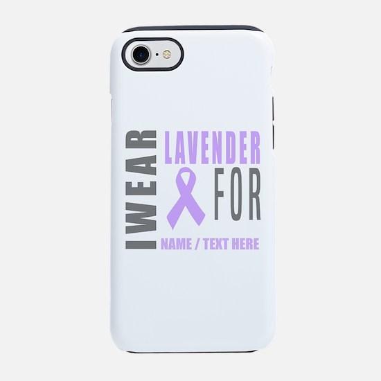 Lavender awareness Ribbon iPhone 7 Tough Case