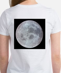 Moon from Apollo 11 Women's Astronomy T-Shirt