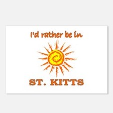 I'd Rather Be In St. Kitts Postcards (Package of 8