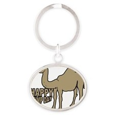 Camel  hump day Oval Keychain