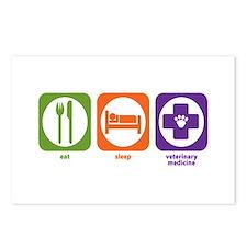 Eat Sleep Veterinary Medicine Postcards (Package o