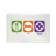 Eat Sleep Veterinary Medicine Rectangle Magnet