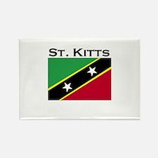 St. Kitts Flag Rectangle Magnet