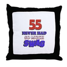 55 never had more swag Throw Pillow