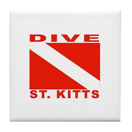 Dive St. Kitts Tile Coaster