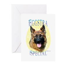 Eggstra Special German Shepherd Greeting Cards (Pa