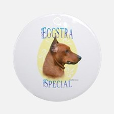 Eggstra Special German Pinscher Ornament (Round)