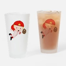 Baseball Bobby Drinking Glass