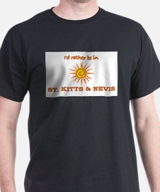 I'd Rather Be In St. Kitts & T-Shirt