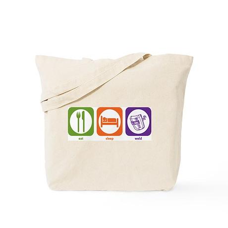 Eat Sleep Weld Tote Bag