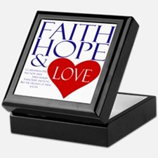 Faith Hope and Love Keepsake Box