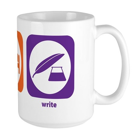 Eat Sleep Write Large Mug