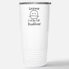Leukemia is a Big Fat Doodiehead Travel Mug