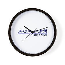 St. Kitts & Nevis Wall Clock