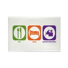Eat Sleep Special Education Rectangle Magnet