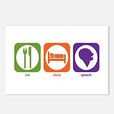 Eat Sleep Speech Postcards (Package of 8)
