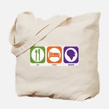 Eat Sleep Speech Tote Bag