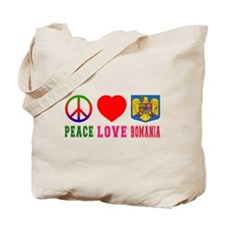 Peace Love Romania Tote Bag