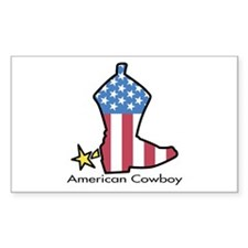 American Cowboy Rectangle Decal