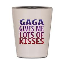 Gaga Gives Me Lots Of Kisses Shot Glass