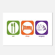 Eat Sleep Surgery Postcards (Package of 8)