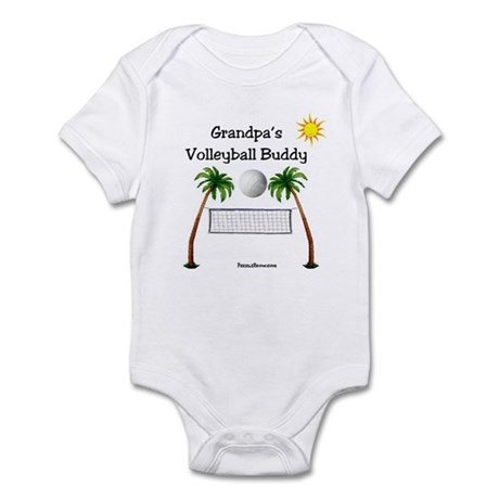 Grandpa's Volleyball Buddy Infant Bodysuit