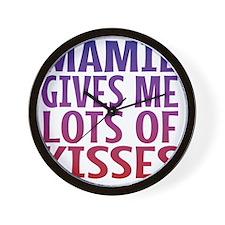 Mamie Gives Me Lots Of Kisses Wall Clock