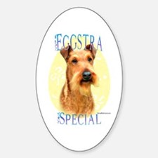 Eggstra Special Irish Terrier Oval Decal