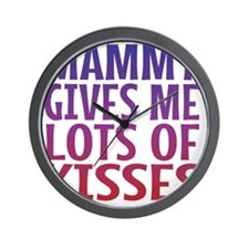 Mammy Gives Me Lots Of Kisses Wall Clock