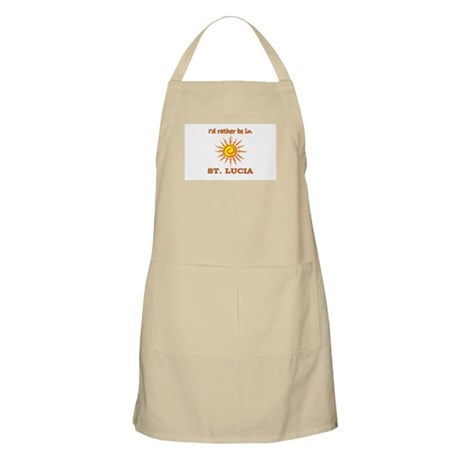 I'd Rather Be In St. Lucia BBQ Apron
