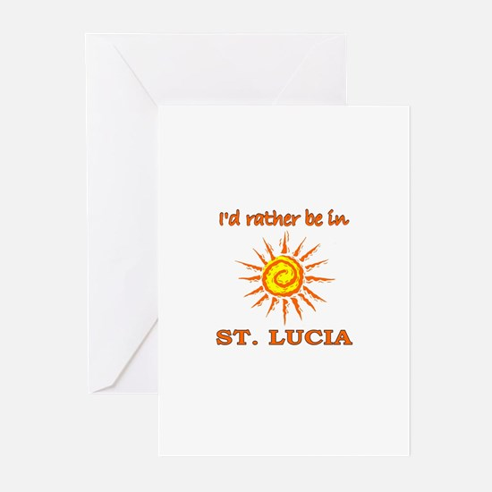 I'd Rather Be In St. Lucia Greeting Cards (Package