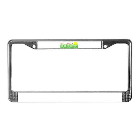 St. Lucia License Plate Frame