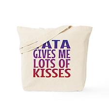 Tata Gives Me Lots Of Kisses Tote Bag