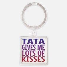 Tata Gives Me Lots Of Kisses Square Keychain