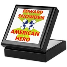 EDWARD SNOWDEN AMERICAN HERO Keepsake Box