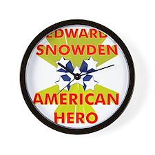 EDWARD SNOWDEN AMERICAN HERO Wall Clock