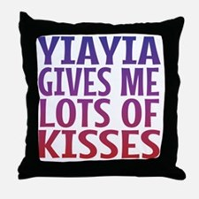 Yiayia Gives Me Lots Of Kisses Throw Pillow