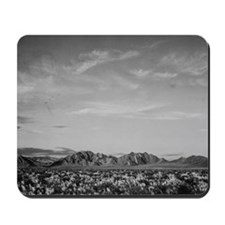 Ansel Adams Distant view of mountains Mousepad