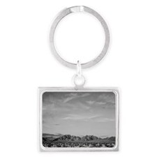 Ansel Adams Distant view of mou Landscape Keychain
