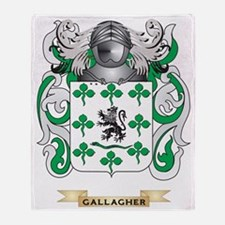 Gallagher Coat of Arms (Family Crest Throw Blanket