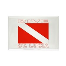 Dive St. Lucia Rectangle Magnet (100 pack)